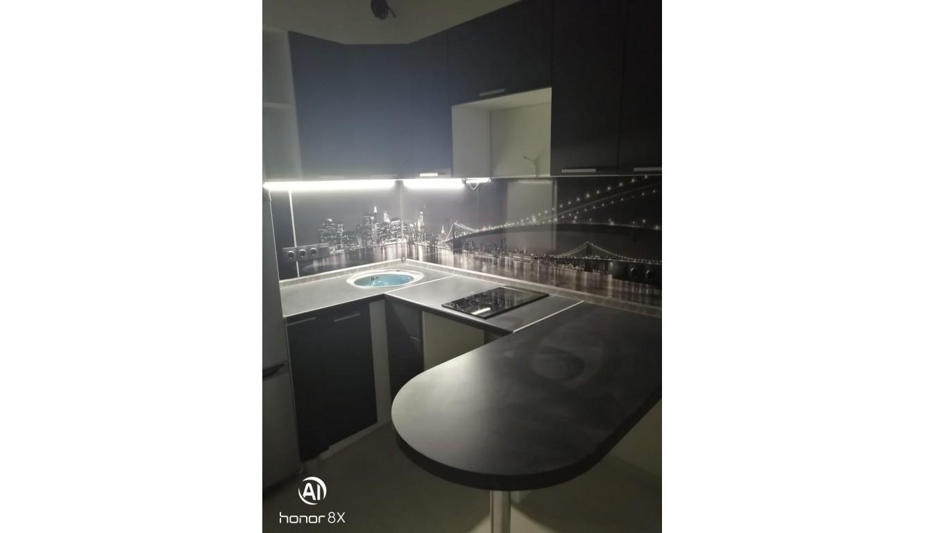 Кухня угловая Рио бетон темный1,6х1.15м