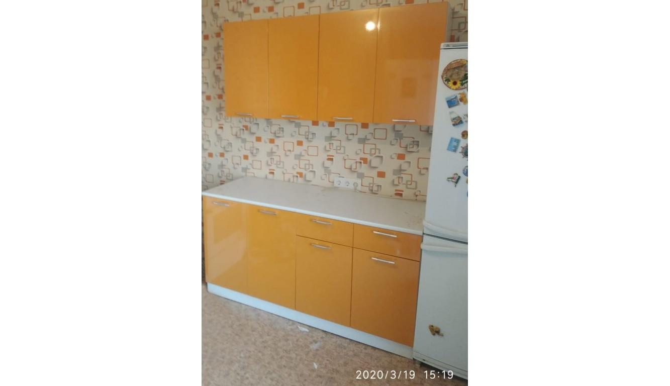 Кухонный гарнитур Оранжевый металлик 1.6 метра